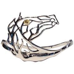 Paolo Piovan Brown Diamond White Gold Horse Bangle