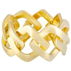 Van Cleef & Arpels Vintage Yellow Gold Square Bangle Bracelet