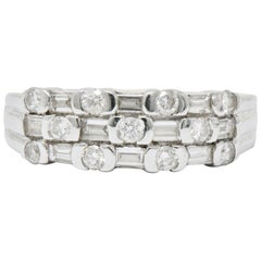 Contemporary 0.75 Carat Diamond 14 Karat White Gold Ring