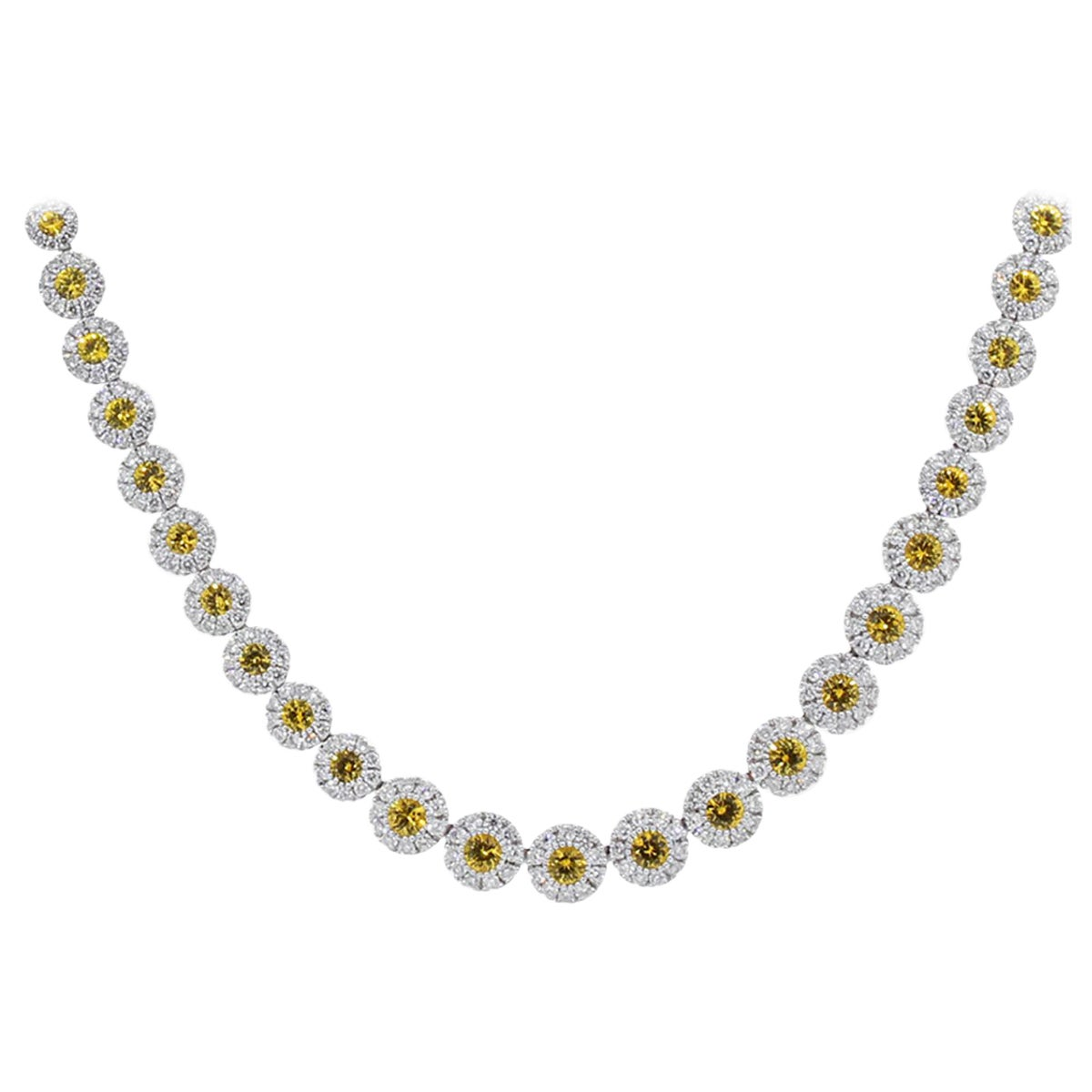 6.41 Carat Yellow Sapphire Necklace
