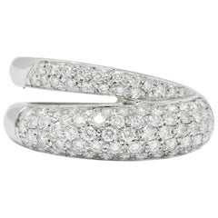 Damiani Contemporary 1.20 Carat Diamond 18 Karat White Gold Ring with Box