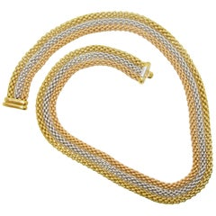 18 Karat Handwoven Gold Necklace by Fope