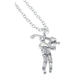 Diamond Golfer Pendant