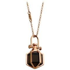 Modern Sacred Geometrical Minimalism 18 Karat Rose Gold Talisman Amulet Necklace