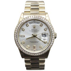 Rolex President Day Date 118238 Diamond Dial and Diamond Bezel 18 Karat Gold