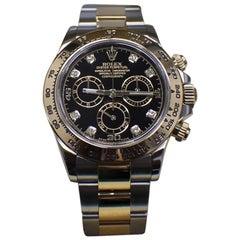 Rolex Daytona 116503 18 Karat Yellow Gold and Stainless Steel Diamond Dial