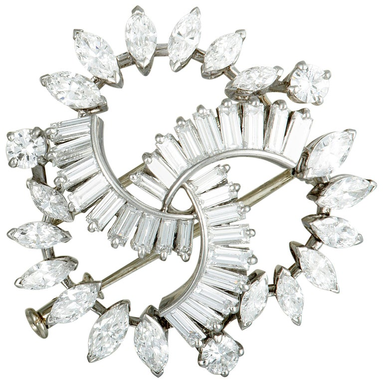 Boucheron Vintage Diamond Platinum Brooch