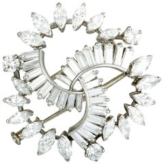 Boucheron Vintage Diamond Platinum Brooch