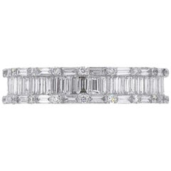 Round Cut and Baguette Diamond Eternity Band