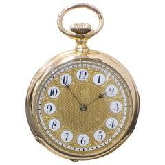 Patek Philippe 18 Karat Rose Gold Pocket Watch 89578 Very Rare, circa 1893