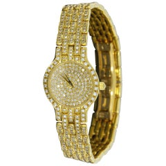 Concord 18 Karat Yellow Gold Les Palais Mini Quartz Watch with 6 Carat Diamonds