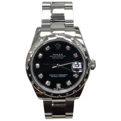 Rolex 178344 Midsize Datejust Steel Diamond Bezel and Dial Box Papers, 2016