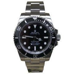 Rolex Submariner 114060 Steel Black Ceramic Box and Papers Full Stickers