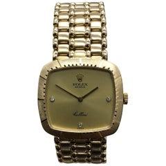 Rolex Cellini 4084 Diamond Dial 18 Karat Yellow Gold