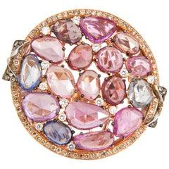 11.35 Carat Sapphire and Diamond 18 Karat Gold Ring