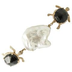 Diamonds Australian Blue Sapphires Baroque Pearls Turtles Link Bracelet
