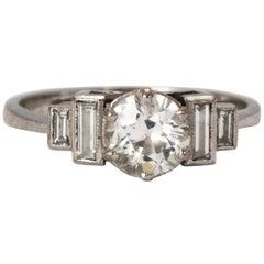 Art Deco Solitaire Diamond Engagement Ring