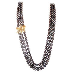 Fei Liu 18 Karat Champagne and White Diamonds with Citrines Necklace