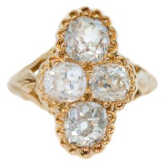 Victorian Antique 2.2 Carat Old Mine Diamond and 18 Karat Yellow Gold Ring