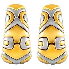 Bvlgari Alveare Two-Tone Earrings