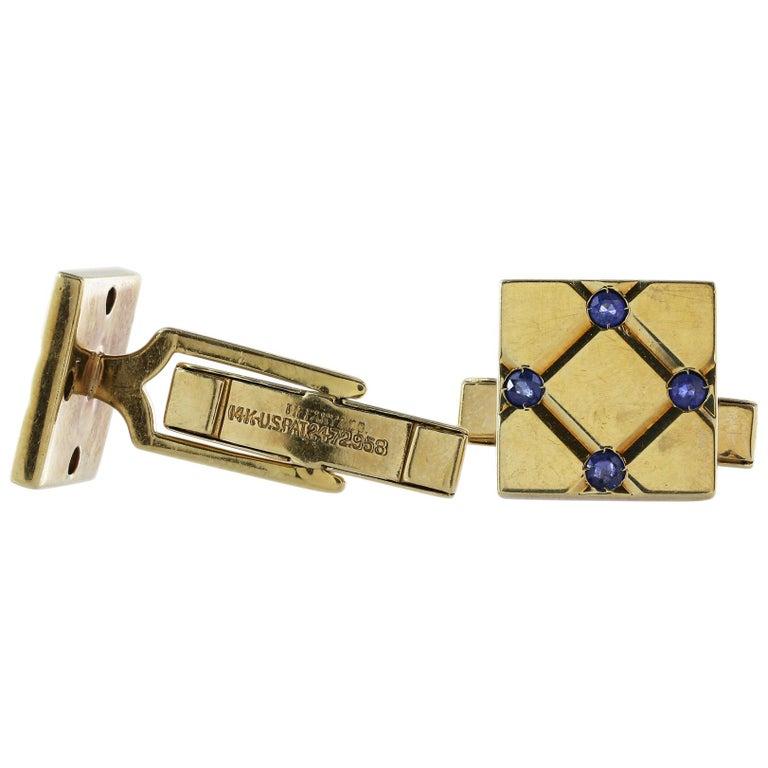 Tiffany & Co. Sapphire Cufflinks For Sale