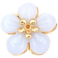 Dior White Jade Flower Ring