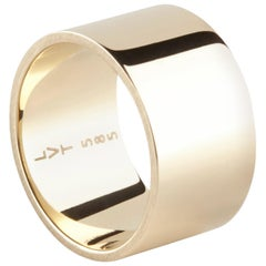 Bold High Polished 14 Karat Solid Yellow Gold Ring