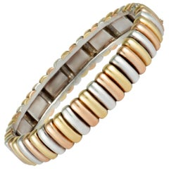 Van Cleef & Arpels Yellow, Rose Gold, and Silver Tricolor Bracelet