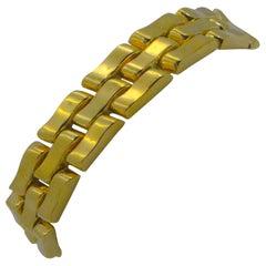 14K Italian Yellow Gold Link Bracelet