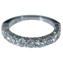 Shared Prong Band Set with 1.08 Carat Total Weight in Diamonds in 14 Karat
