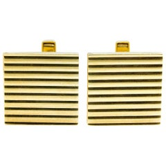 Vintage Square Gold Cufflinks