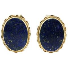 Vintage Lapis Lazuli Gold Cufflinks