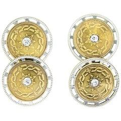 Antique Platinum Gold Cufflinks