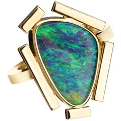 Australian Boulder Opal Cocktail Ring