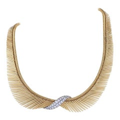 "Van Cleef & Arpels Gold, Platinum and Diamond ""Angel Hair"" Necklace"