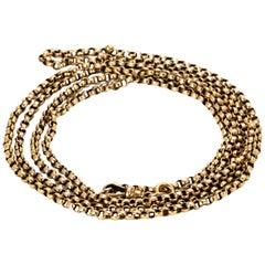Edwardian 9 Carat Gold Long Guard Chain