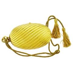 Diamond and 18 Karat Yellow Gold Evening Clutch by Bulgari