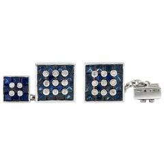 Sapphire and Diamond Cufflinks