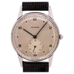 Movado Stainless Steel Manual Wind Watch, circa 1950s