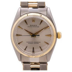 Rolex Stainless Steel and 14 Karat Yellow Gold Oyster Perpetual Watch Ref 1005