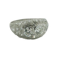 1920s Art Deco Marvelous  Diamond Ring in Platinum