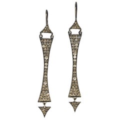 Lauren Harper 1.37 Carat Diamond Black Silver Earrings
