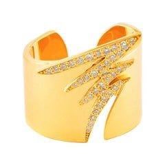 18 Karat Gold and 1.80 Carat White Diamond Signature Pave Ring by Alessa Jewelry