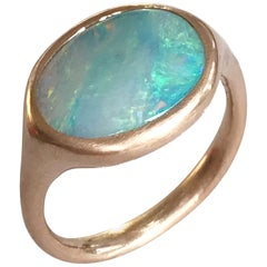 Dalben Small Australian Boulder Opal Rose Gold Ring