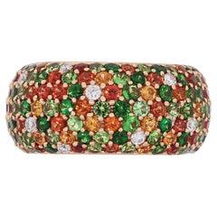Gemstone Diamond Pave Ring