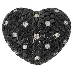 Diamond Puff Heart Pendant