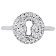 Pave Diamond Key Hole Ring