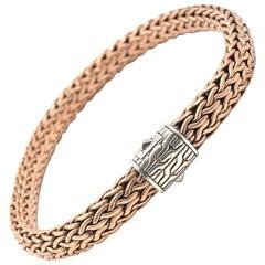 John Hardy Classic Chain Medium Sterling Silver or Bronze Bracelet