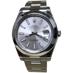 Rolex Datejust II 116300 Stainless Steel Silver Dial Box and Papers, 2017