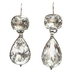 Antique Georgian Scarce Rock Crystal Earrings